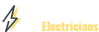 GP Electricians logo white text